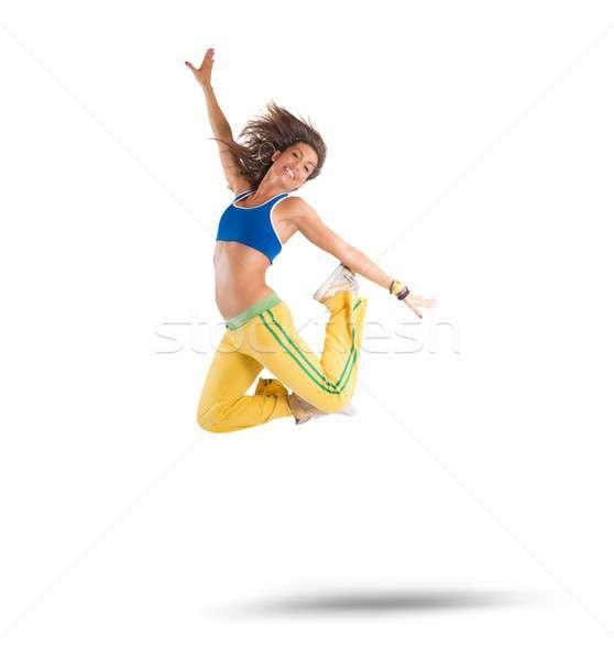 Dansçı zumba spor ışık uygunluk sağlık Stok fotoğraf © alphaspirit