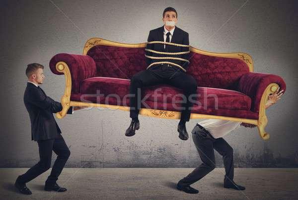 Prins om de afaceri afaceri om Imagine de stoc © alphaspirit