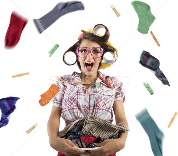Explosion of laundry Stock photo © alphaspirit