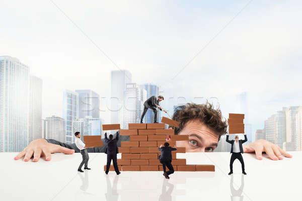 Boss builds a business team Stock photo © alphaspirit