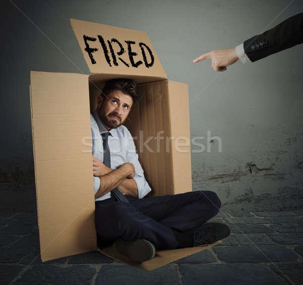 Fired businessman Stock photo © alphaspirit