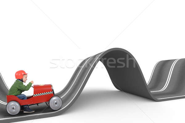 Difficult way . 3D Rendering Stock photo © alphaspirit