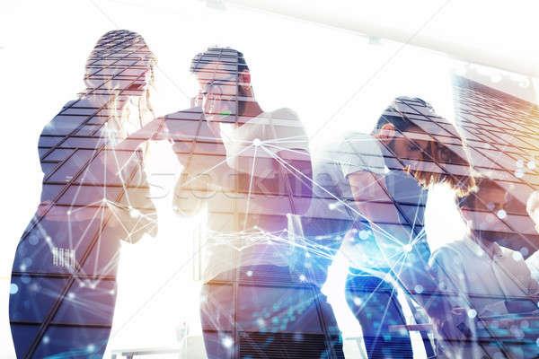 Ludzi biznesu pracy wraz biuro zespołowej współpraca Zdjęcia stock © alphaspirit