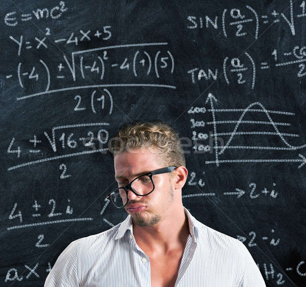 Diák gond tanulás üzlet iskola tudomány Stock fotó © alphaspirit