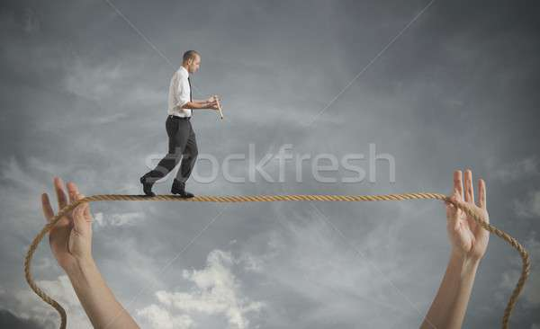 Risks and challenges of business life Stock photo © alphaspirit