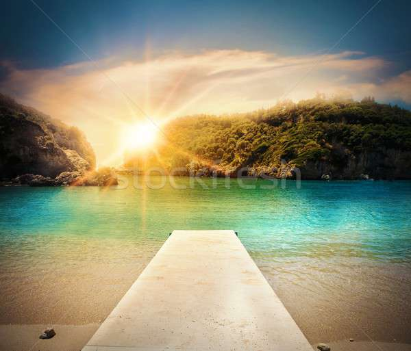 Jetty on the beach Stock photo © alphaspirit