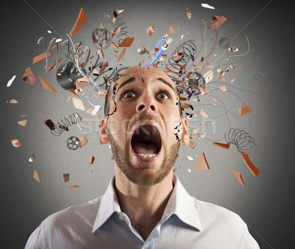Brain stressed Stock photo © alphaspirit