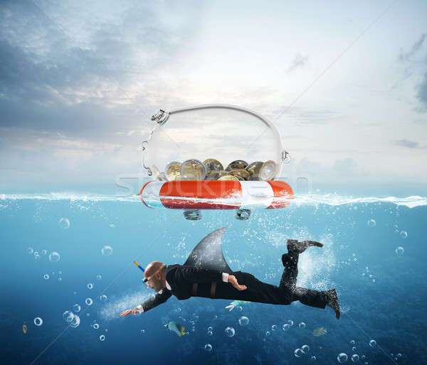 Lifebelt for money Stock photo © alphaspirit