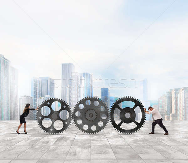 Work together for success Stock photo © alphaspirit