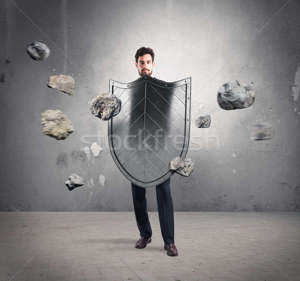 Safety and protection in business Stock photo © alphaspirit