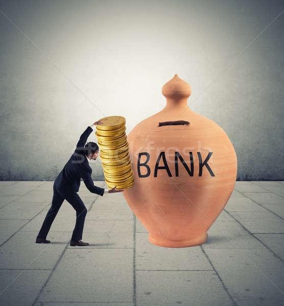Deposit gains in a bank Stock photo © alphaspirit