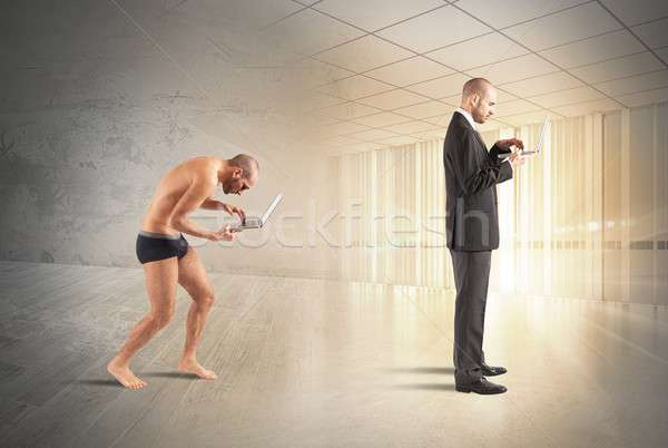 Evolution of businessman Stock photo © alphaspirit