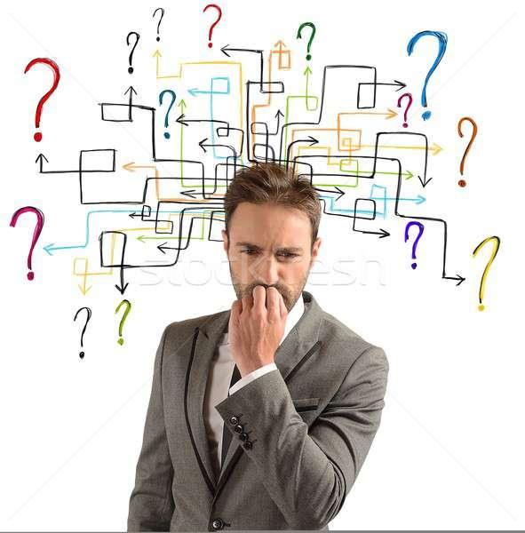 Questions doutes affaires solutions travaux aider Photo stock © alphaspirit