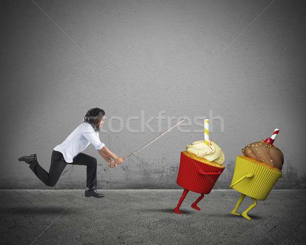 Man on a diet Stock photo © alphaspirit