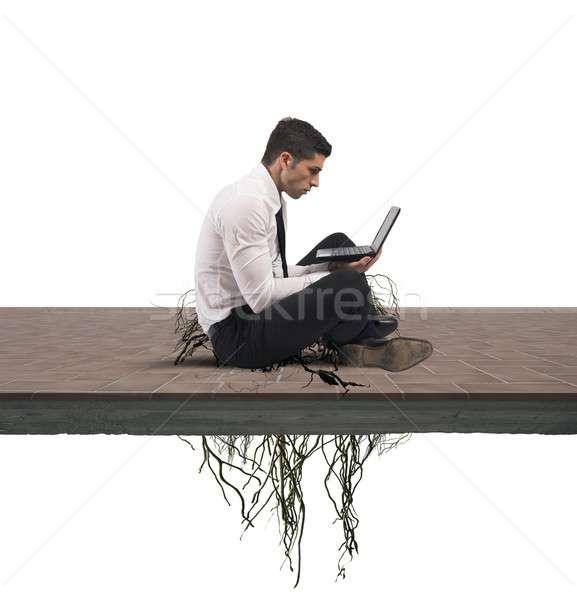 Internet addiction concept Stock photo © alphaspirit
