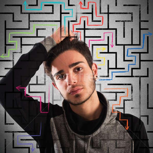 Thoughtful teenager Stock photo © alphaspirit