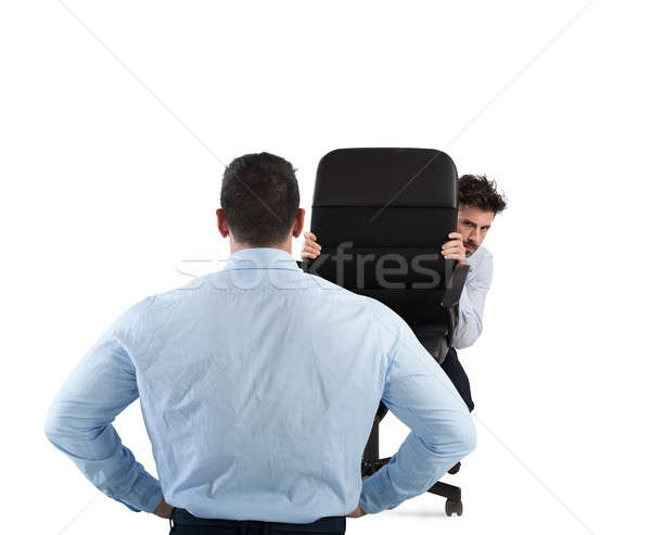 Businessman is afraid of his boss Stock photo © alphaspirit
