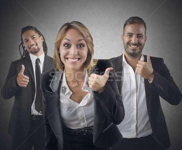 Vállalkozók optimista mosoly gyönyörű karrier üzlet Stock fotó © alphaspirit