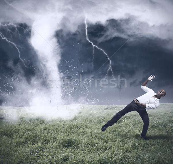 Crisis and business storm Stock photo © alphaspirit