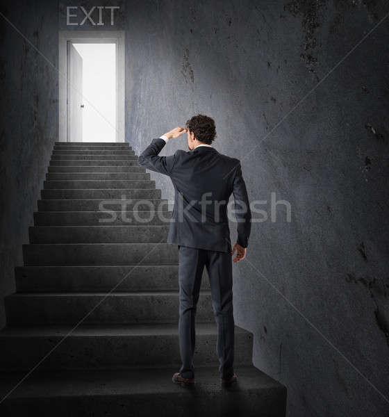 終了する ビジネス ストレス 金融危機 ビジネスマン ルックス ストックフォト © alphaspirit
