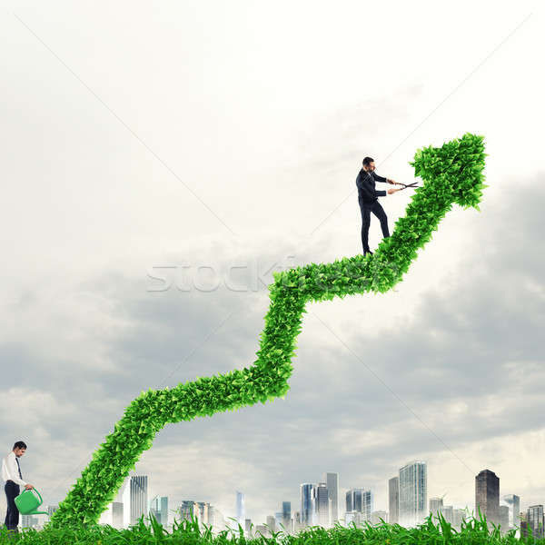 Big plant that grows like an arrow. Growing the economy company Stock photo © alphaspirit