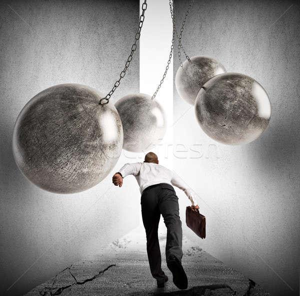 éxito empresario hierro ejecutando Foto stock © alphaspirit