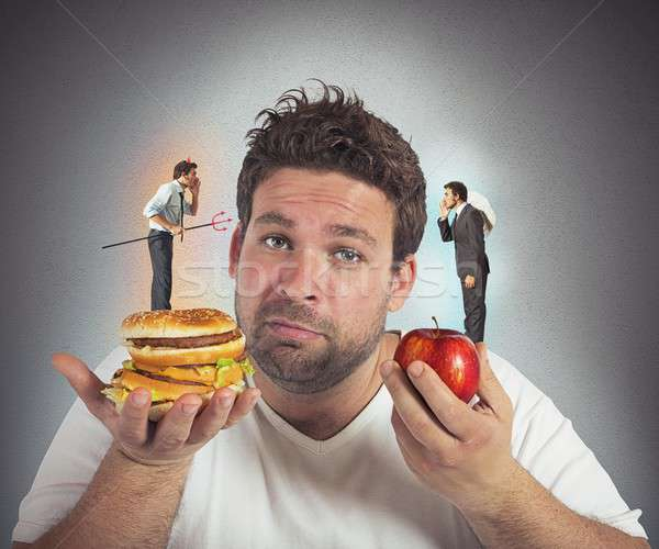 Diet guilty conscience Stock photo © alphaspirit