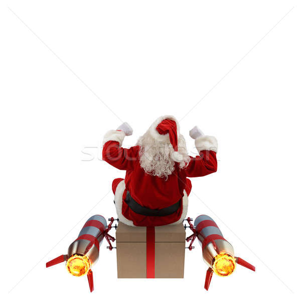 Fast delivery of Christmas gifts Stock photo © alphaspirit