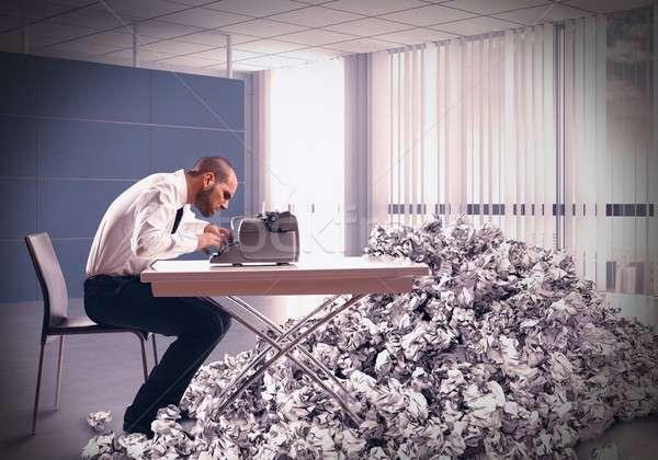 Pile of drafts Stock photo © alphaspirit