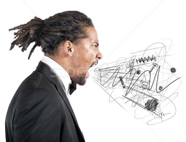 Angry businessman Stock photo © alphaspirit