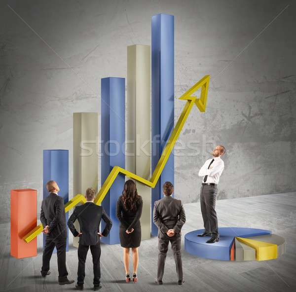Plan müdür şirket iş finanse Stok fotoğraf © alphaspirit