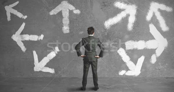 選択肢 ビジネスマン 選択 道路 男 将来 ストックフォト © alphaspirit