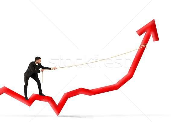 Businessman and corporate profit Stock photo © alphaspirit