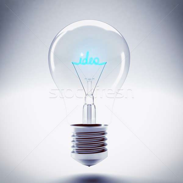 Idea bulb light Stock photo © alphaspirit