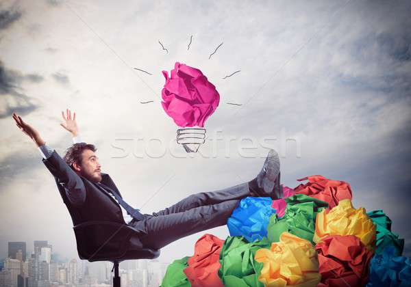 Exult for idea Stock photo © alphaspirit