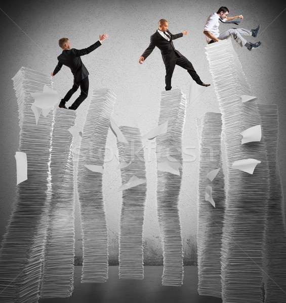 Działalności działalności ludzi nietrwały papieru biznesmen pracownika Zdjęcia stock © alphaspirit