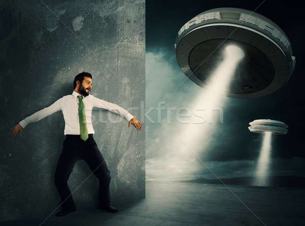 Frightened by UFO Stock photo © alphaspirit