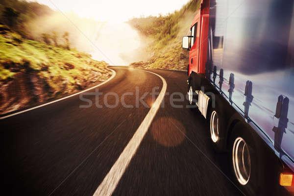 Transport truck Stock photo © alphaspirit