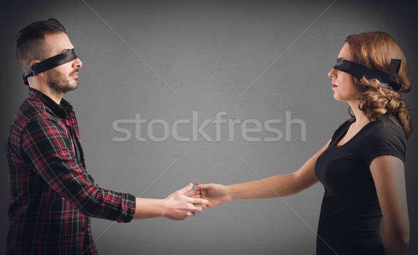 Meeting between strangers Stock photo © alphaspirit