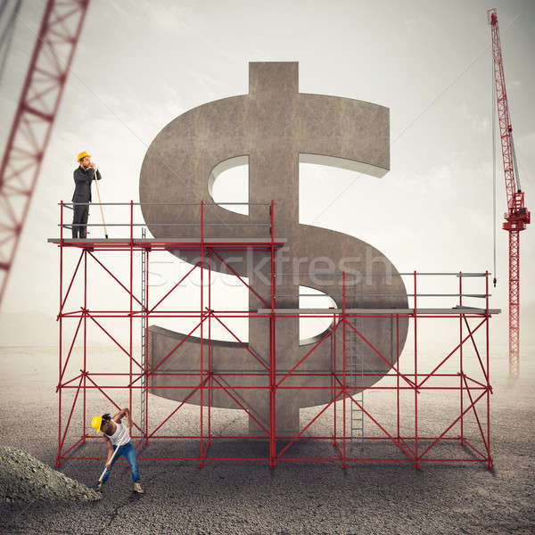 Strengthen american economy . 3D Rendering Stock photo © alphaspirit