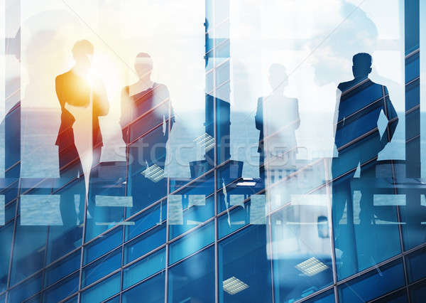 Group of business partner looking for the future. Concept of corporate and startup Stock photo © alphaspirit