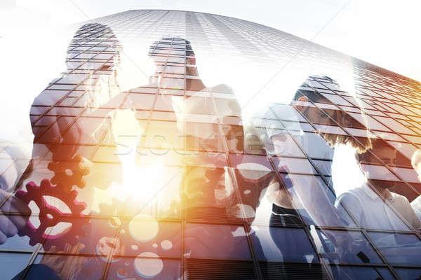 деловые люди работу вместе служба команде Сток-фото © alphaspirit