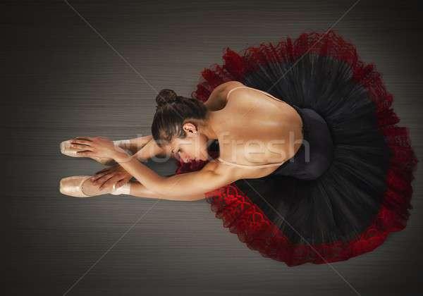 クラシカル ダンサー ポイント 女性 ダンス 足 ストックフォト © alphaspirit