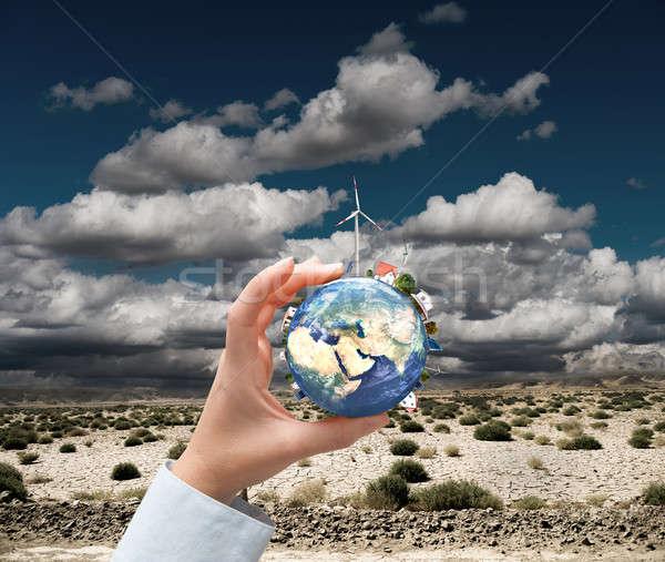 новых Чистая энергия Мир небе мира природы Сток-фото © alphaspirit
