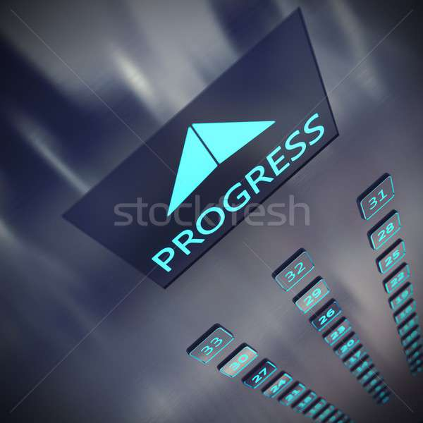 Progress elevator Stock photo © alphaspirit