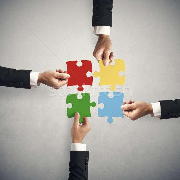 Teamwork and partnership concept Stock photo © alphaspirit