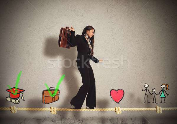 Stages of businesswoman life Stock photo © alphaspirit