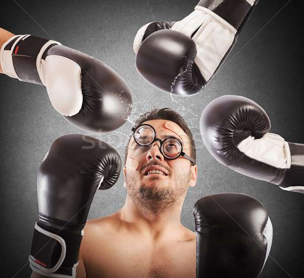Loser boxer Stock photo © alphaspirit