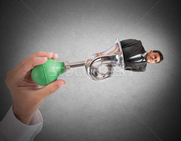 Exhausted and bother businessman Stock photo © alphaspirit