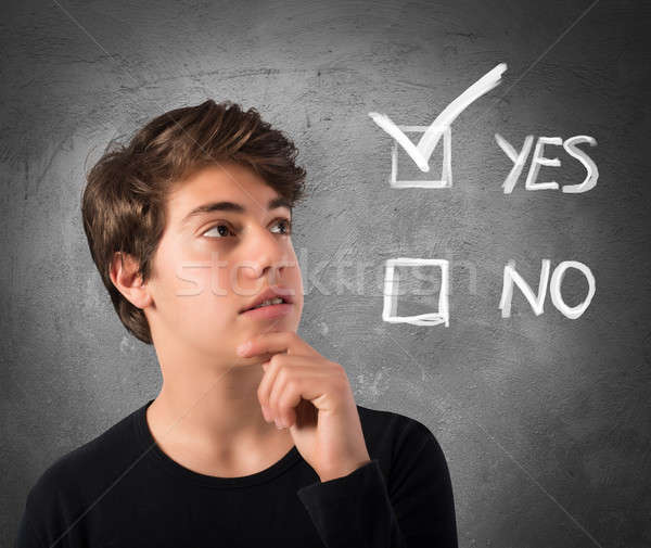 Yes or no Stock photo © alphaspirit